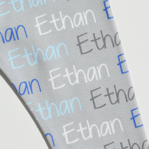Name Leggings - Name Only - Color Combo with Grey Background