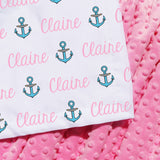 Minky Blanket - Anchors