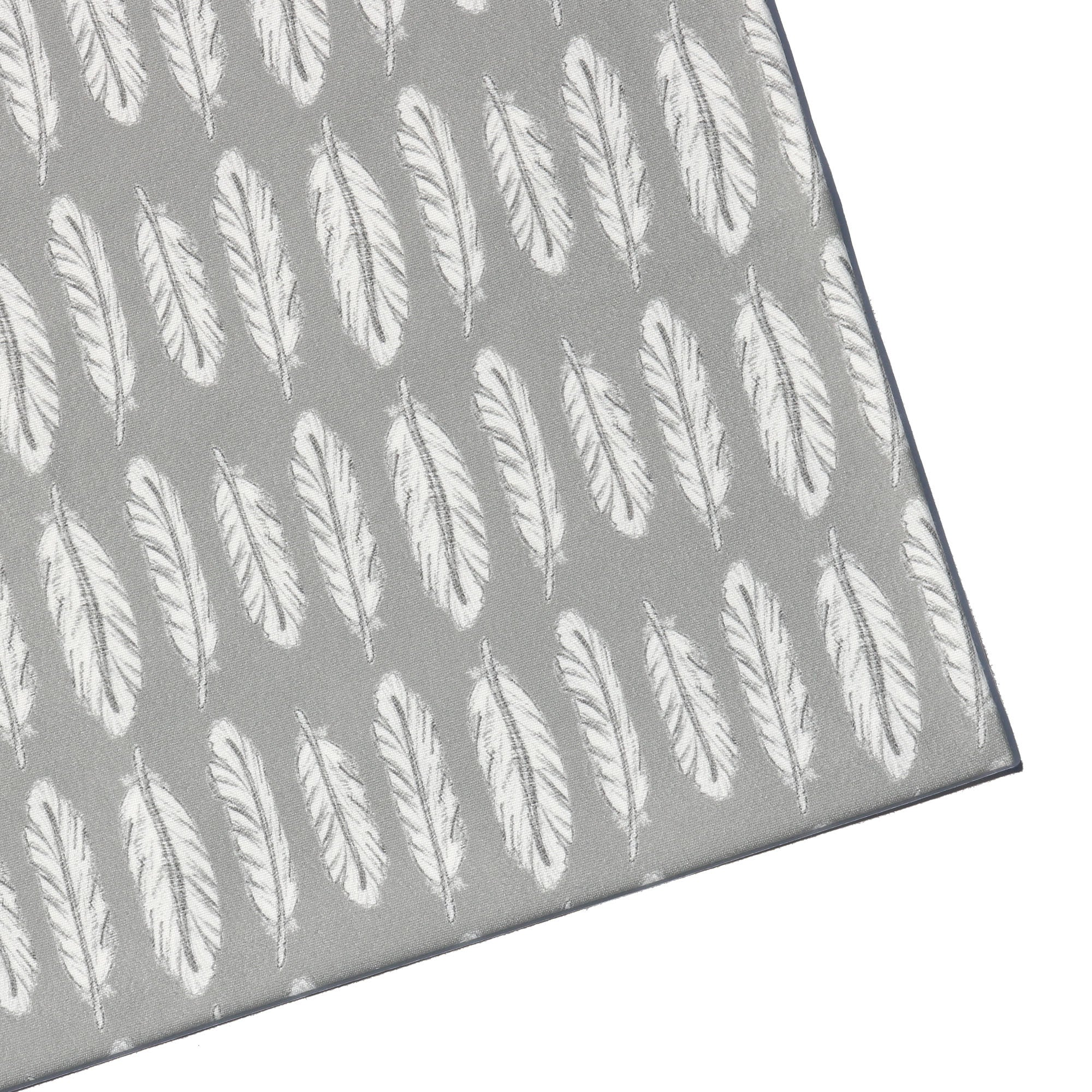 Ready to Ship - Swaddle - Feathers with Grey Background
