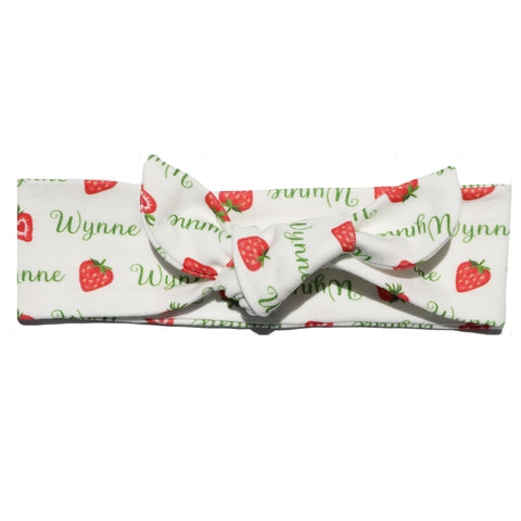 Knotted Headband - Strawberry Baby