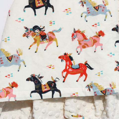 Ready to Ship - Wild Horses Baby Blanket