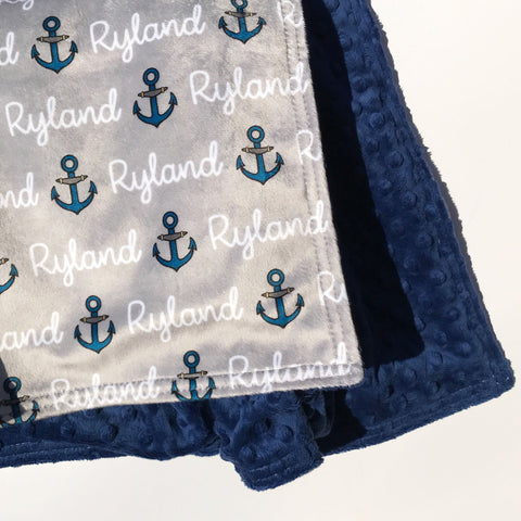 Double Minky Blanket - Anchors
