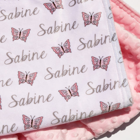 Double Minky Blanket - Butterflies