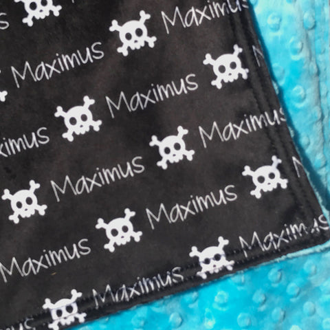 Double Minky Blanket - Skull and Bones