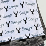 Double Minky Blanket - Stags