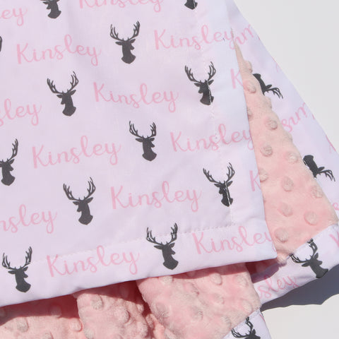 Minky Blanket - Stags