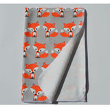 Ready to Ship - Swaddle - Little Fox with Grey Background Swaddle