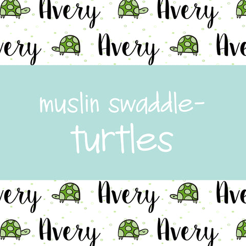 Muslin Swaddle - Turtles