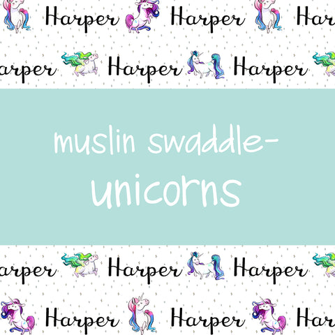 Muslin Swaddle - Unicorns