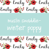 Muslin Swaddle - Winter Poppy