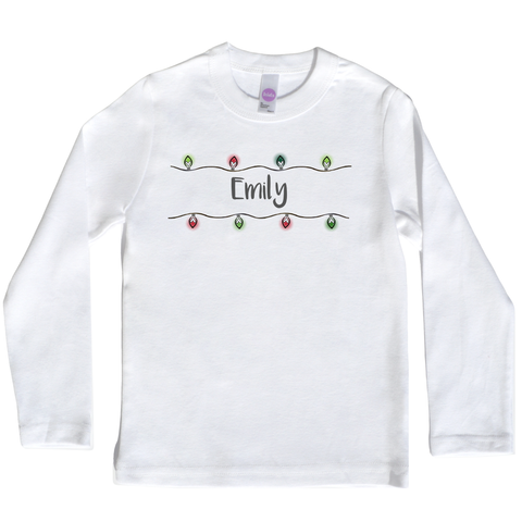 Boco Kids - Shirt - Christmas Lights in Red and Green