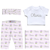 Welcome Baby Set - Lavender Posy