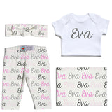 Welcome Baby Set - Name Only - Color Combo