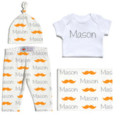 Welcome Baby Set - Mustaches