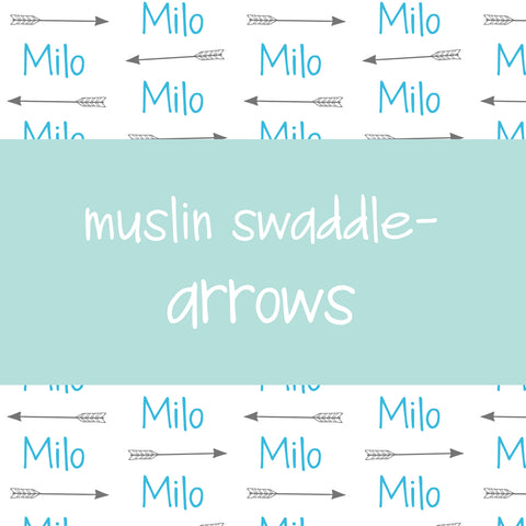 Muslin Swaddle - Arrows