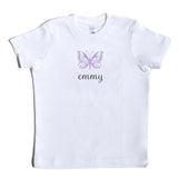 Boco Kids - Shirt - Butterfly with Name