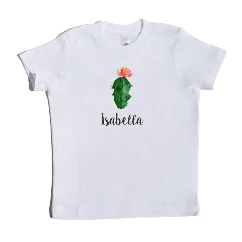 Boco Kids - Shirt - Succulent In Bloom With Name