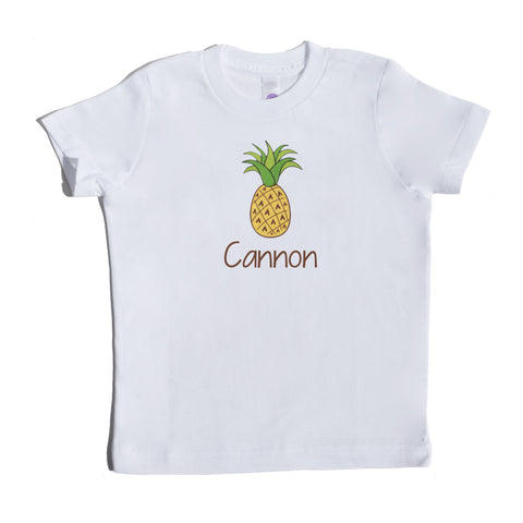 Boco Kids - Shirt - Pineapple With Name