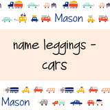 Name Leggings - Cars