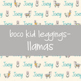 Boco Kids - Name Leggings - Llamas