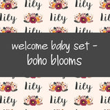 Welcome Baby Set - Boho Blooms