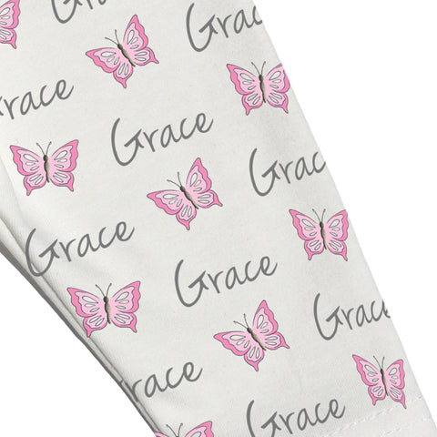 Name Leggings - Butterflies
