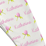 Name Leggings - Clover Flowers