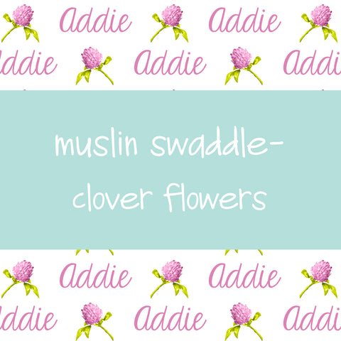 Muslin Swaddle - Clover Flowers