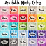 Double Minky Blanket - Name Only - Single Color