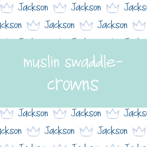 Muslin Swaddle - Crowns