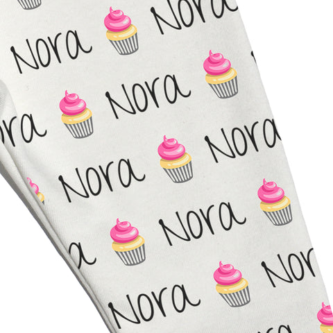 Name Leggings - Cupcakes