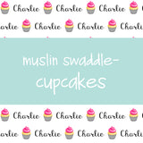 Muslin Swaddle - Cupcakes