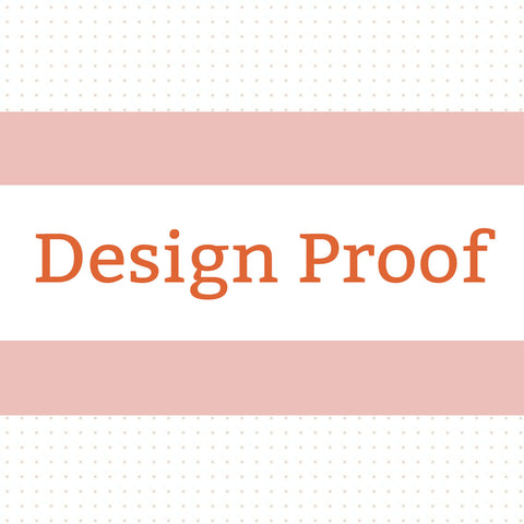 Design Proof - Customized Font and Graphic