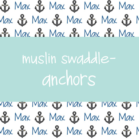 Muslin Swaddle - Anchors