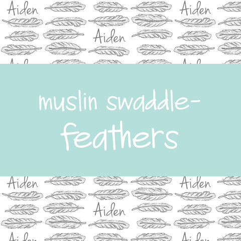 Muslin Swaddle - Feathers