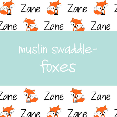 Muslin Swaddle - Foxes