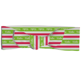 Knotted Headband - Stripes in Green and Red