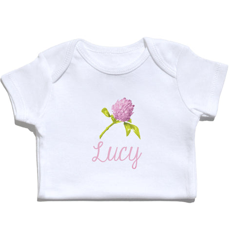 Bodysuit - Clover Flower with Name