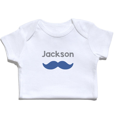 Bodysuit - Mustache with Name