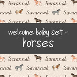 Welcome Baby Set - Horses