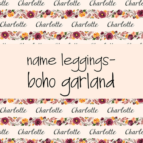 Name Leggings - Boho Garland