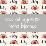 Boco Kids - Name Leggings - Boho Blooms