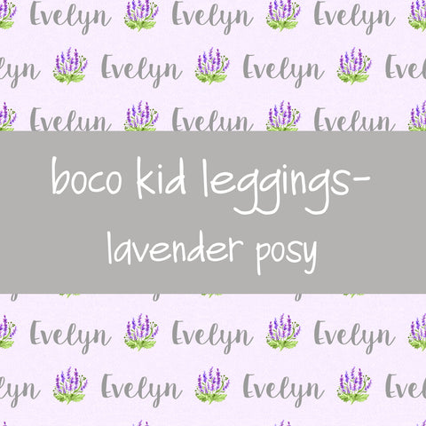 Boco Kids - Name Leggings - Lavender Posy
