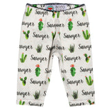Name Leggings - Succulent Garden In Bloom