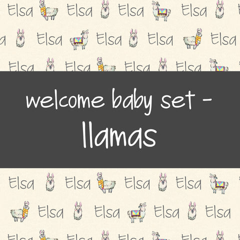 Welcome Baby Set - Llamas