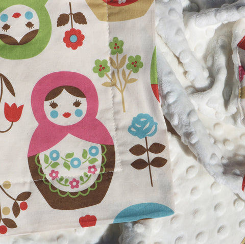 Ready to Ship - Matryoshka Baby Blanket