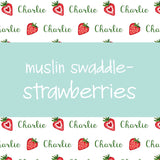 Muslin Swaddle - Strawberry baby