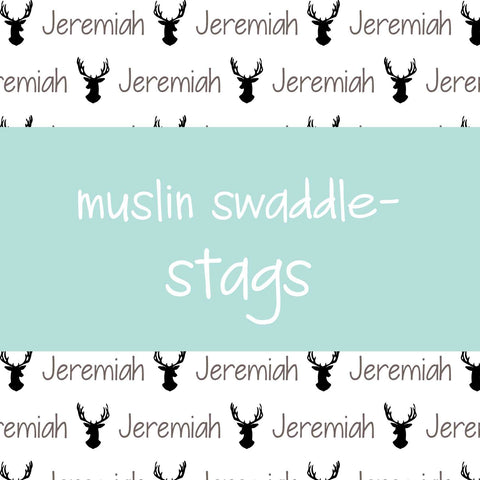 Muslin Swaddle - Stags