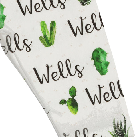 Name Leggings - Succulent Garden