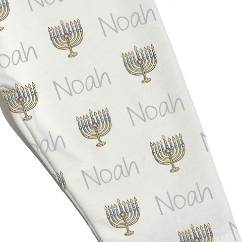 Name Leggings - Menorah
